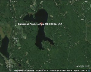 Map of Bunganut Pond circa 1962